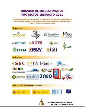 Captura portada Dossier Iniciativas de proyecto Innpacto 2011