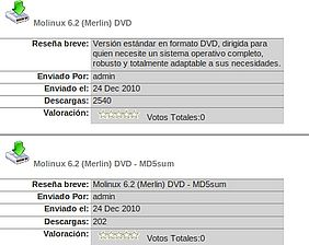 Descarga fichero md5