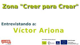 Logotipo zona Creer para Crear, entrevista a Víctor Arjona