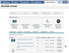 Mercado virtual de servicios TIC en Castilla-La Mancha