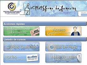 Imagen de la web Formación online CESLCAM - JCCM